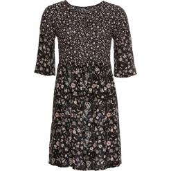 Sukienka w kwiaty bonprix czarny z nadrukiem. Czarne sukienki balowe marki bonprix, na lato, w kwiaty. Za 79,99 zł.