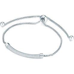 Bransoletki damskie: Posrebrzana bransoletka z elementem ozdobnym