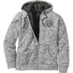 """Bluza rozpinana na podszewce z """"baranka"""" Regular Fit bonprix szary melanż. Szare bluzy męskie rozpinane marki bonprix, m, melanż. Za 149,99 zł."""