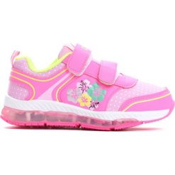 Różowe Buty Sportowe Make It. Czerwone buciki niemowlęce chłopięce Born2be, ze skóry, z okrągłym noskiem, na płaskiej podeszwie. Za 59,99 zł.