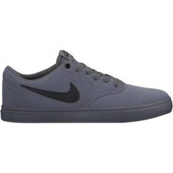 Trampki męskie: Nike Trampki Sb Check Solarsoft Canvas Skateboarding Shoe/Dark Grey/Black 42