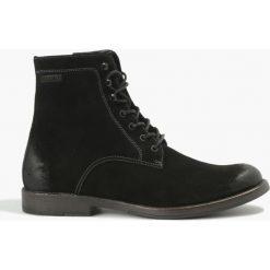 Kozaki czarne Cody. Czarne buty zimowe męskie marki Badura, z materiału, na sznurówki. Za 279,99 zł.
