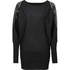 Sweter bonprix czarny. Czarne swetry klasyczne damskie bonprix. Za 99,99 zł.