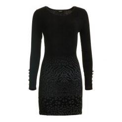 Desigual Sukienka Damska Granada S Czarny. Szare sukienki marki Desigual, l, z tkaniny, casualowe, z długim rękawem. W wyprzedaży za 299,00 zł.