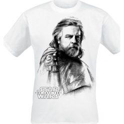 T-shirty męskie z nadrukiem: Star Wars Episode 8 – Die letzten Jedi – Luke Skywalker T-Shirt biały