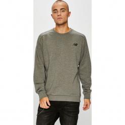 New Balance - Bluza. Szare bluzy męskie rozpinane marki New Balance, l, z bawełny, bez kaptura. W wyprzedaży za 249,90 zł.