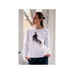 Bluzy damskie: WOLF bluza oversize biała