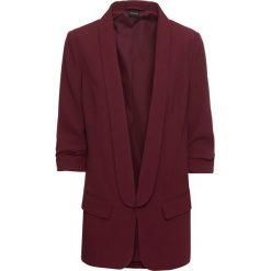 Długi żakiet z drapowanymi rękawami bonprix czerwony klonowy. Brązowe marynarki i żakiety damskie marki bonprix. Za 109,99 zł.