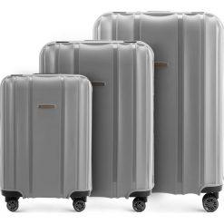 Zestaw walizek 56-3T-73S-70. Szare walizki marki Wittchen, duże. Za 722,61 zł.