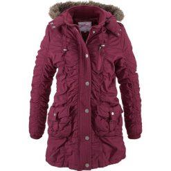Płaszcz zimowy bonprix jeżynowy. Szare płaszcze damskie z futerkiem marki bonprix. Za 169,99 zł.