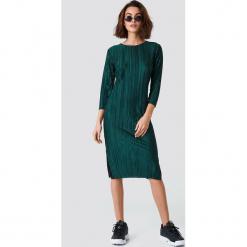 Rut&Circle Sukienka Katrin - Green. Zielone sukienki marki Rut&Circle, z dzianiny, z okrągłym kołnierzem. Za 141,95 zł.