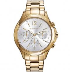 Zegarek kwarcowy w kolorze srebrno-złotym. Żółte, analogowe zegarki damskie Esprit Watches, ze stali. W wyprzedaży za 363,95 zł.