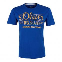 S.Oliver T-Shirt Męski Xxl Niebieski. Niebieskie t-shirty męskie z nadrukiem S.Oliver, m. Za 39,90 zł.