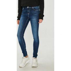 Review - Jeansy. Szare jeansy damskie rurki Review, z bawełny, z podwyższonym stanem. Za 179,90 zł.