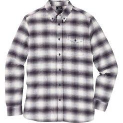Koszula z długim rękawem w kratę bonprix szary w kratę. Szare koszule męskie na spinki marki House, l, z bawełny. Za 49,99 zł.