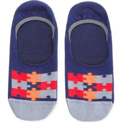 Skarpety Stopki Unisex FREAK FEET - MPUZ-NV  Granatowy. Niebieskie skarpetki męskie marki Freak Feet, w kolorowe wzory, z bawełny. Za 14,99 zł.