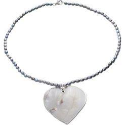 Naszyjniki damskie: Naszyjnik z pereł i masy perłowej – (D)43 cm