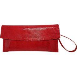 Puzderka: Skórzana kopertówka w kolorze czerwonym – (S)30 x (W)16 x (G)5 cm