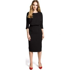 ROSETTA Sukienka odcinana w pasie z zakładkami - czarna. Niebieskie sukienki na komunię marki numoco, na imprezę, s, w kwiaty, z jeansu, sportowe, sportowe. Za 179,90 zł.