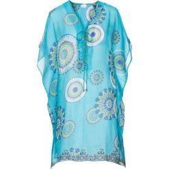 Sukienki hiszpanki: Sukienka plażowa bonprix turkusowy z nadrukiem