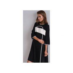 Sukienki hiszpanki: Czarna rozkloszowana sukienka Tunika Nona