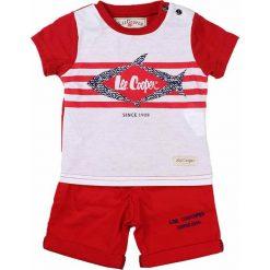 T-shirty chłopięce z nadrukiem: 2-częściowy zestaw w kolorze czerwono-białym