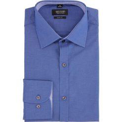Koszula bexley 2222 długi rękaw slim fit granatowy. Niebieskie koszule męskie slim Recman, m, z długim rękawem. Za 99,99 zł.