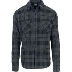 Koszule męskie na spinki: Urban Classics Checked Flannel Shirt 2 Koszula ciemnoszary/czarny
