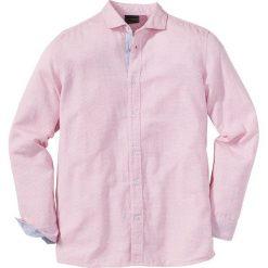 Koszula z długim rękawem Regular Fit bonprix czerwony wzorzysty. Białe koszule męskie marki bonprix, z klasycznym kołnierzykiem, z długim rękawem. Za 37,99 zł.