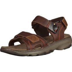 Sandały męskie: Skórzane sandały w kolorze brązowym