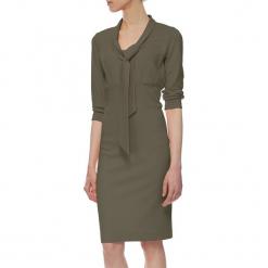 Sukienka w kolorze khaki. Brązowe sukienki marki YULIYA BABICH, xs, midi. W wyprzedaży za 189,95 zł.