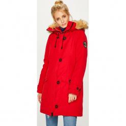 Answear - Kurtka. Czerwone kurtki damskie ANSWEAR, l, z elastanu, z kapturem. Za 369,90 zł.