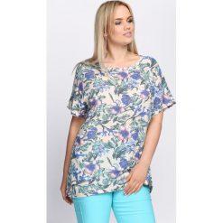 T-shirty damskie: Beżowy T-shirt Beautiful World