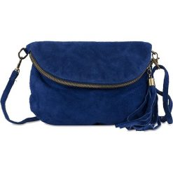 """Torebki klasyczne damskie: Skórzana torebka """"Juliette"""" w kolorze niebieskim – 22 x 18 x 3,2 cm"""