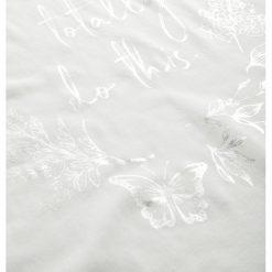 Koszulka z metalicznym nadrukiem. Brązowe bluzki sportowe damskie marki Orsay, s, z dzianiny. Za 49,99 zł.