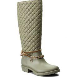 Kalosze GUESS - Ralan FLRAL3 RUB11 LBEIG. Szare buty zimowe damskie Guess, z aplikacjami, z materiału. W wyprzedaży za 319,00 zł.