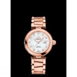 ZEGAREK OMEGA De Ville Ladymatic 425.60.34.20.55.004. Białe zegarki damskie OMEGA, szklane. Za 101800,00 zł.