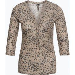 T-shirty damskie: Key Largo – Damska koszulka z długim rękawem z dodatkiem lnu – Leo, beżowy