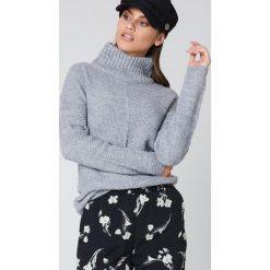 Golfy damskie: Rut&Circle Dzianinowy sweter z golfem Elsa – Grey