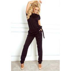 Odzież damska: Czarny Kombinezon Elegancki Wieczorowy