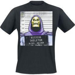 T-shirty męskie z nadrukiem: Masters Of The Universe Skeletor Mug Shot T-Shirt czarny
