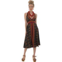 Sukienki: Sukienka w kolorze oliwkowo-pomarańczowym