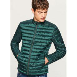 Pikowana kurtka ze stójką - Khaki. Brązowe kurtki męskie pikowane marki LIGNE VERNEY CARRON, m, z bawełny. Za 119,99 zł.
