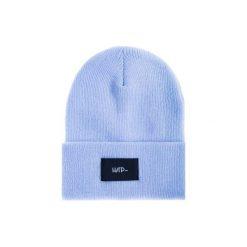Czapka Beanie Blue Sky. Niebieskie czapki zimowe damskie Harp Team, z dzianiny, klasyczne. Za 49,00 zł.
