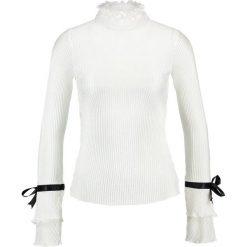 Bluzki asymetryczne: Navy London JEANIE Bluzka white