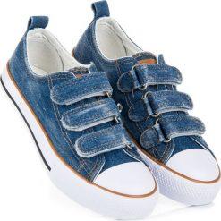 Trampki chłopięce: Jeansowe trampki na rzepy LANEY