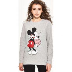 Bluzy rozpinane damskie: Bluza z nadrukiem mickey mouse - Jasny szar
