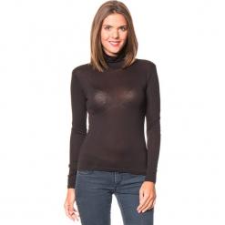 Koszulka w kolorze czarnym. Czarne bluzki z golfem Assuili, klasyczne, z długim rękawem. W wyprzedaży za 45,95 zł.