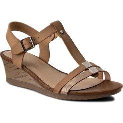 Rzymianki damskie: Sandały VIA RAVIA - WS17036-1 Beżowy