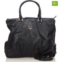 Torebki klasyczne damskie: Skórzana torebka w kolorze czarnym – 36 x 31,5 x 16 cm